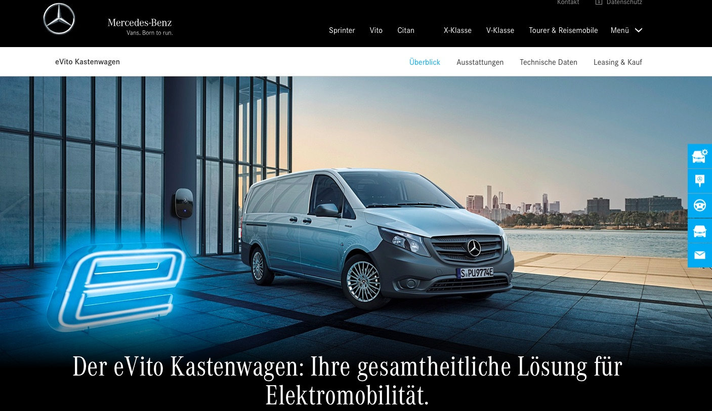Mercedes E-Vito - Landingpage